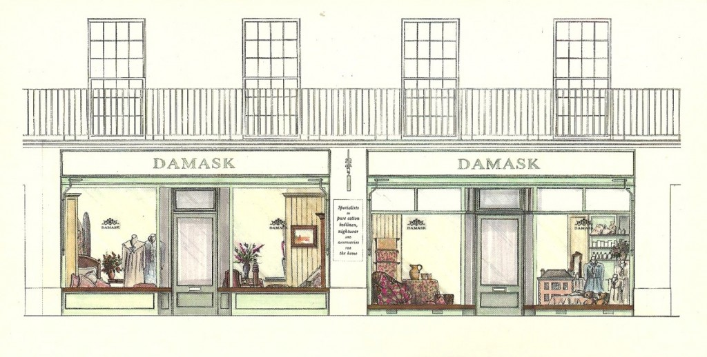 Damask Shop Sketch