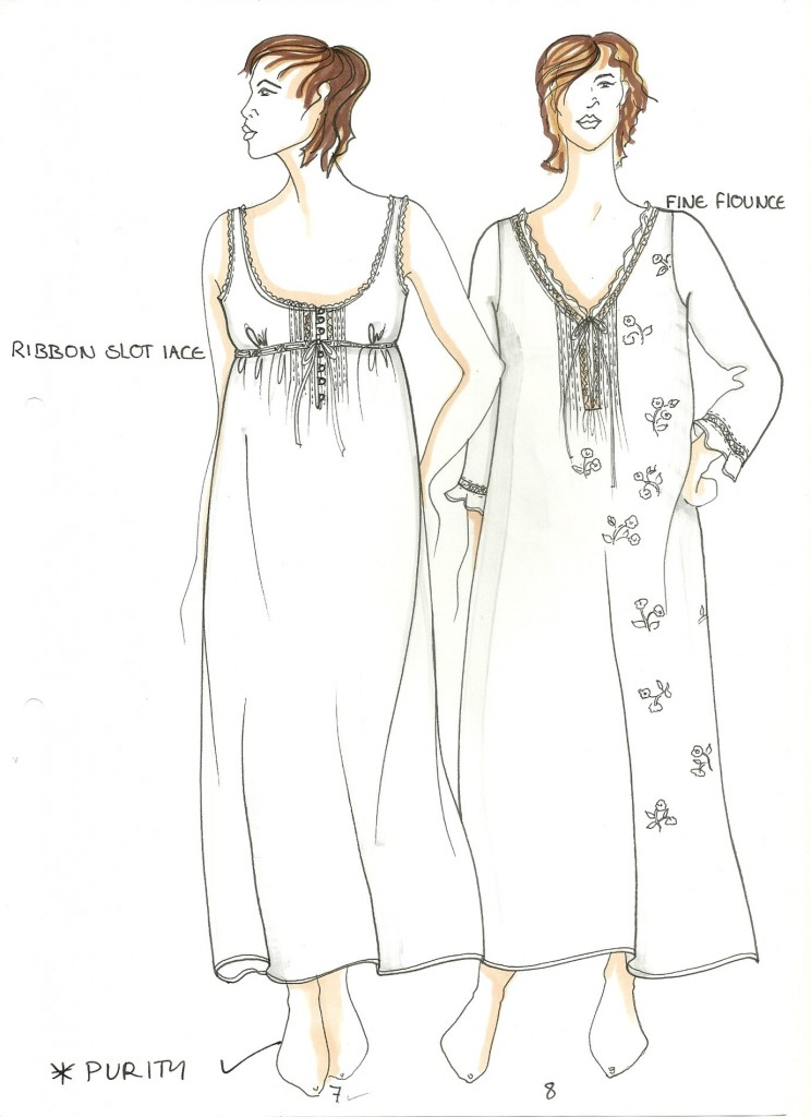 Vintage Nightwear Sketch