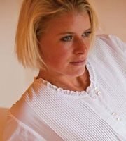 Valencia 3/4 length sleeve cotton nightdress from Damask