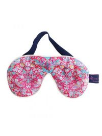 Liberty Print Cotton and Velvet Eye Mask – Strawberry Thief Pink