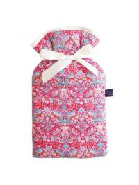 Liberty Print Hot Water Bottle Cover – Strawberry Thief Pink