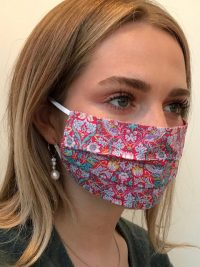 Strawberry Thief Pink Liberty Print Tana Lawn cotton reversible face mask