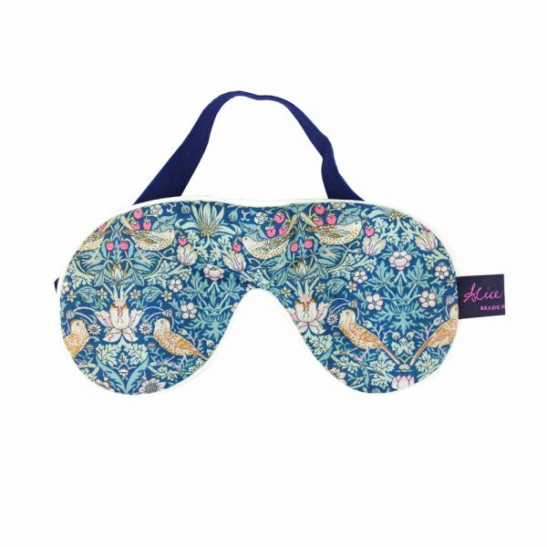 Liberty Print Eye Mask in Strawberry Thief Green from Damask.co.uk