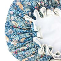 Liberty Print Shower Cap in Strawberry Thief Green from Damask.co.uk