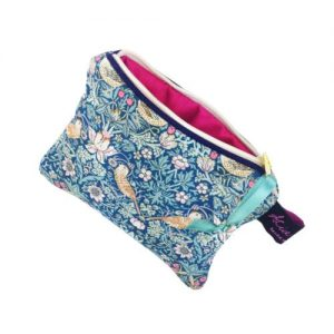 Strawberry Thief Forest Green Liberty Print Small Purse